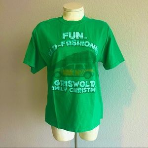 Ripple Junction National Lampoon's green Tshirt